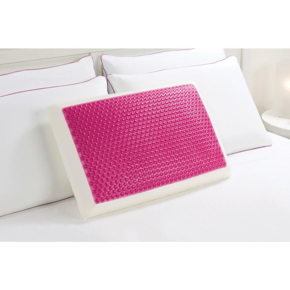 comfort revolution memory foam and hydraluxe gel standard bed pillow 246 0a the home depot - Comfort Revolution Pillow