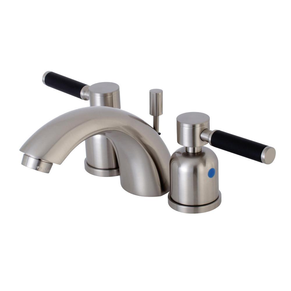 Kingston Brass Kaiser 4 in. Minispread 2-Handle Mid-Arc Bathroom Faucet in Satin Nickel