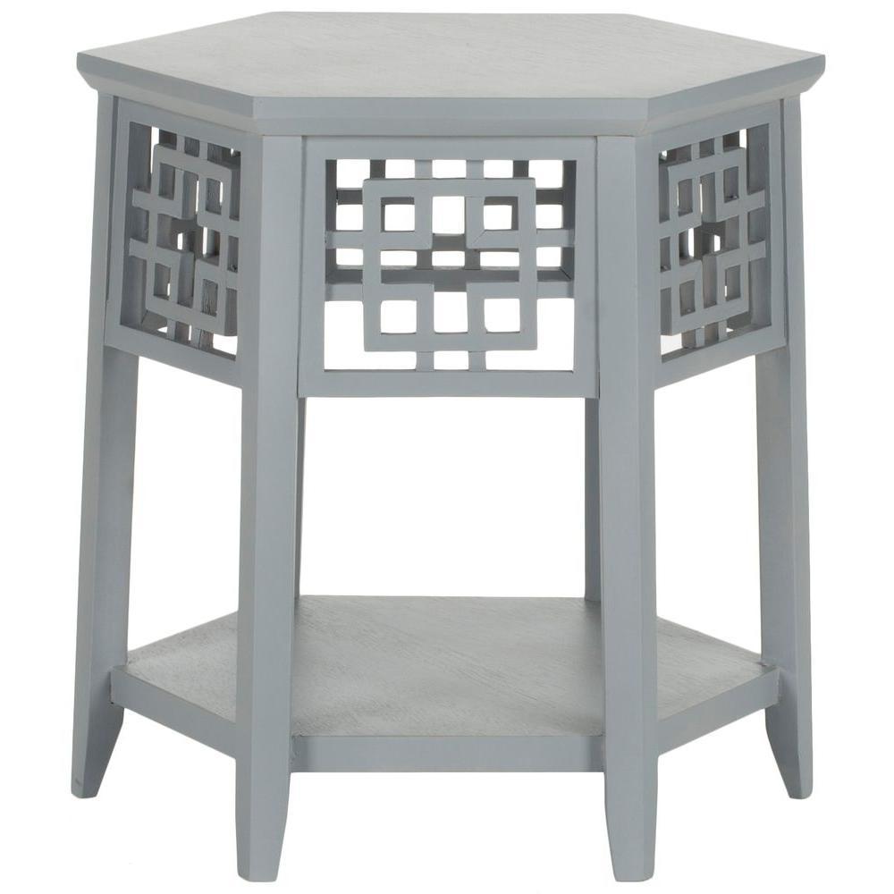 Zelda Pearl Blue Grey End Table