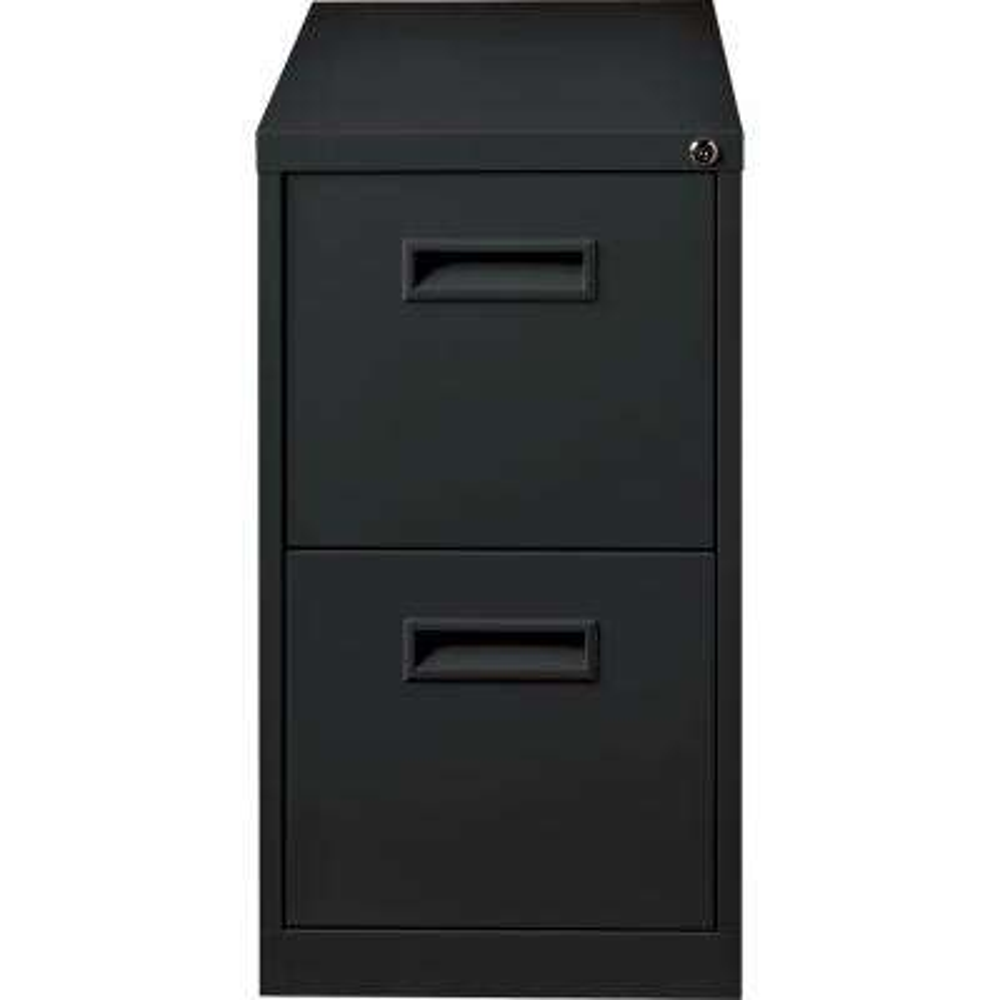 15 in. x 22.9 in. x 28 in. Black 2-Drawer File/File Mobile Pedestal Files
