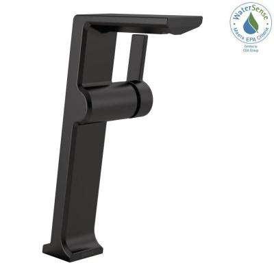 Pivotal Single Hole Single-Handle Vessel Bathroom Faucet in Matte Black
