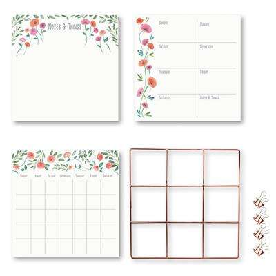 Pastel Day Dream Grid Organization Kit Decal