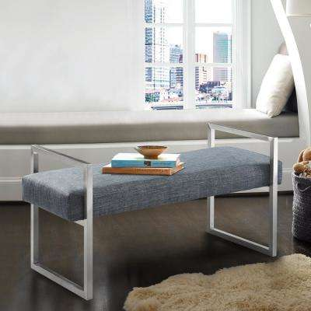 Linen - Mid-Century Modern - Bench - Bedroom Benches ...