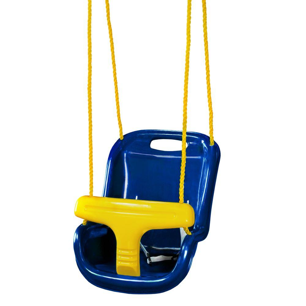 Outdoor Baby Swing >> Gorilla Playsets Blue Infant Swing With High Back