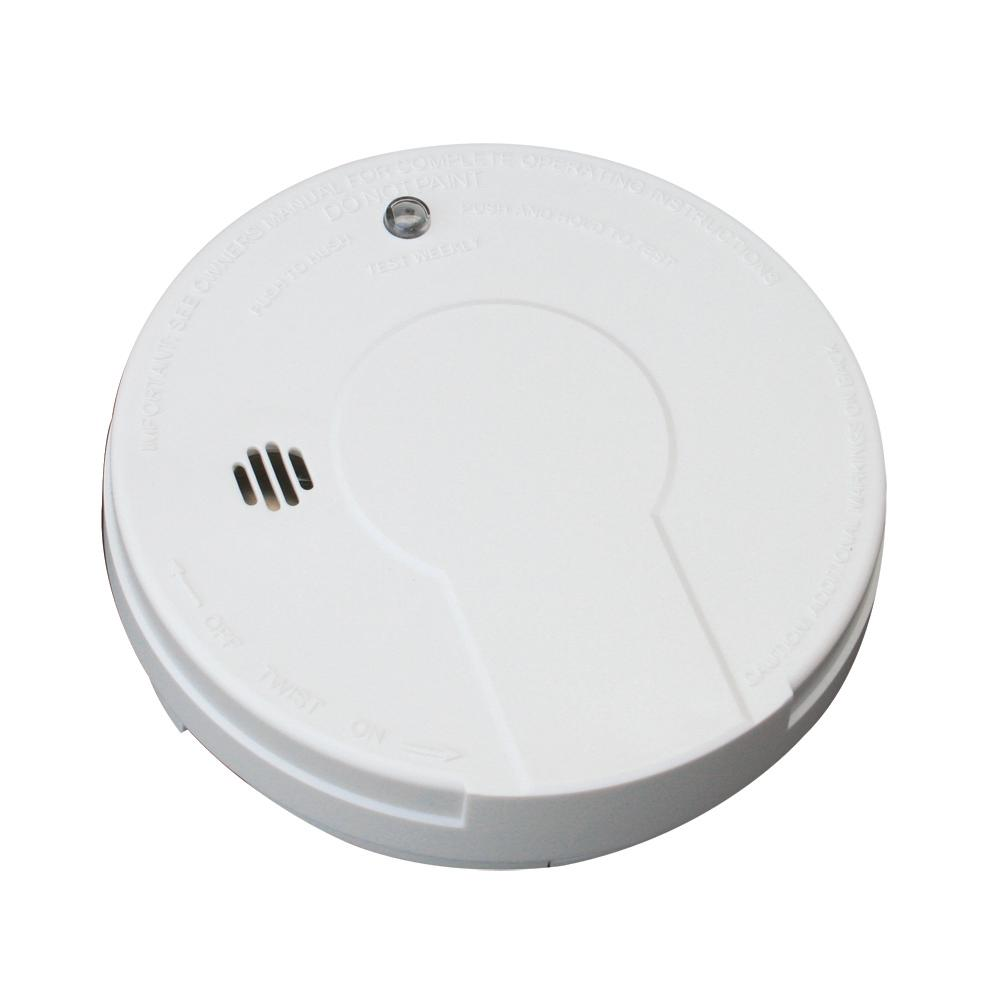 Kidde Battery Operated Smoke Detector with LED Power Indicator and Ionization Sensor