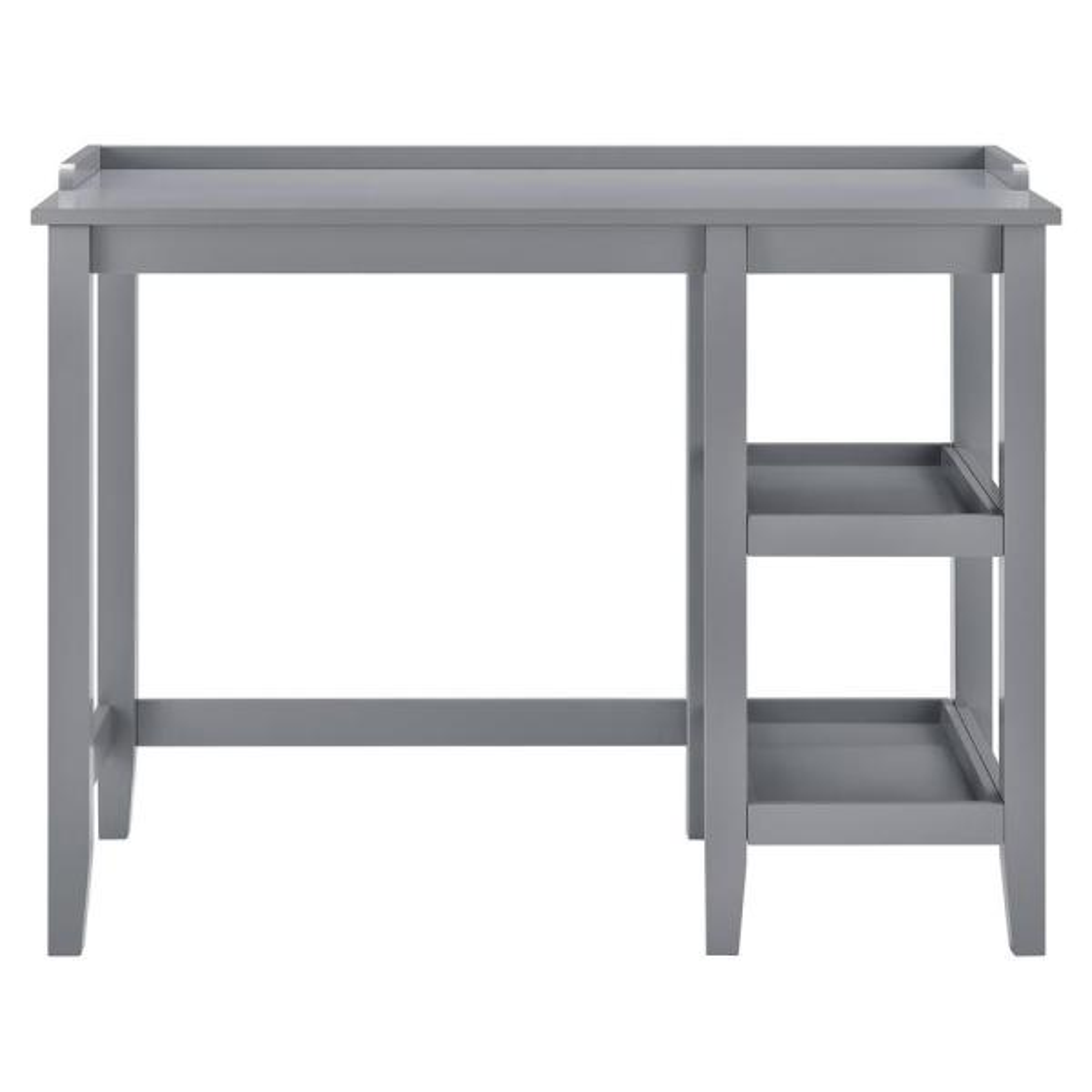 Ameriwood Farhurst Gray Single Pedestal Desk HD01575
