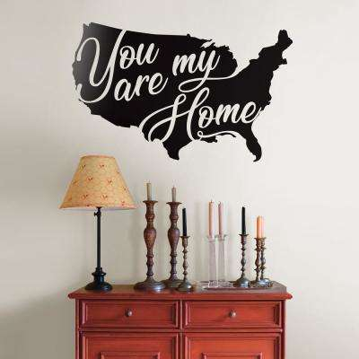 Black You Are My Home Wall Decal