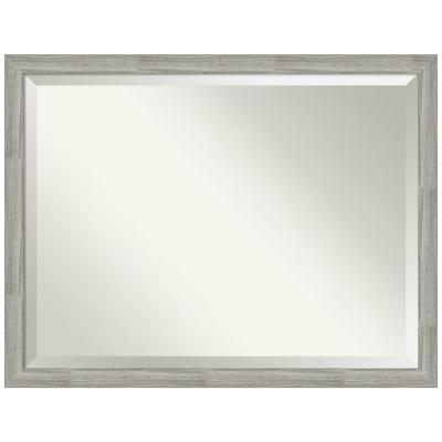 Medium Rectangle Distressed Grey Beveled Glass Modern Mirror (33.5 in. H x 43.5 in. W)