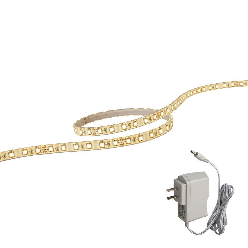 illume lighting 118 in led white flextape light with plug in driver