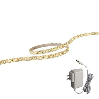118 in. LED White Flextape Light with Plug-In Driver