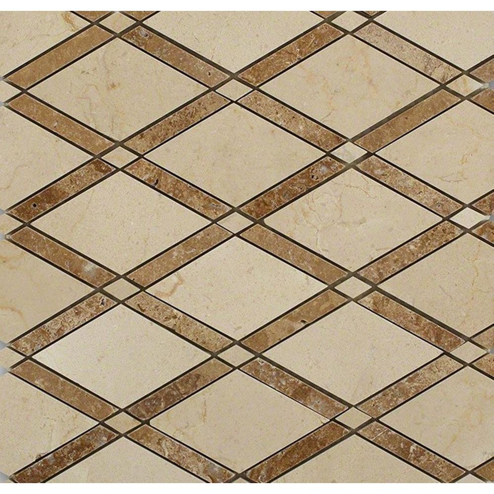 Bedroom floor tile samples tile the home depot grand crema marfil noce polished marble tile 3 in x dailygadgetfo Gallery