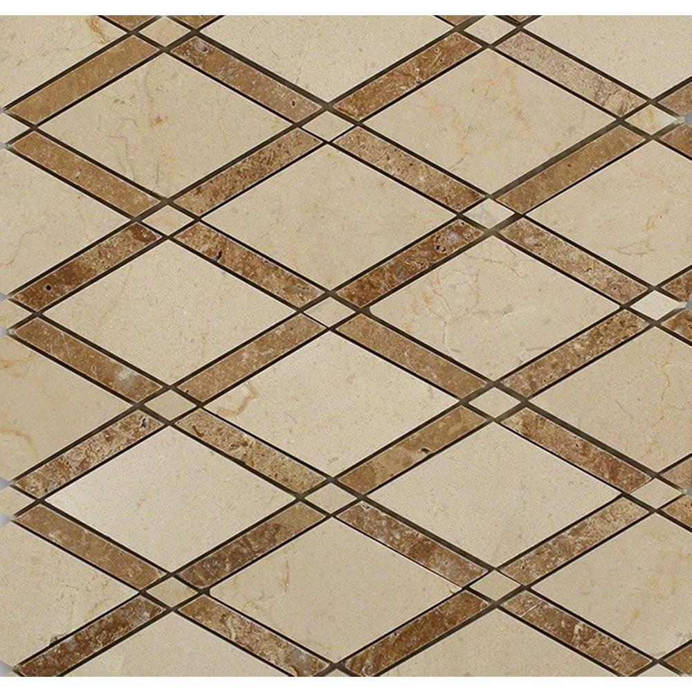 Splashback Tile Grand Crema Marfil Noce Polished Marble