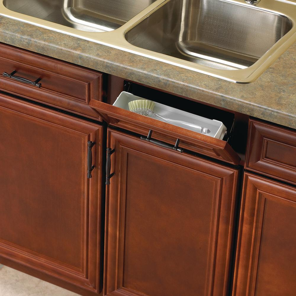 Knape & Vogt 3 in. x 11 in. x 2 in. Polymer Sink Front Tray Cabinet Organizer