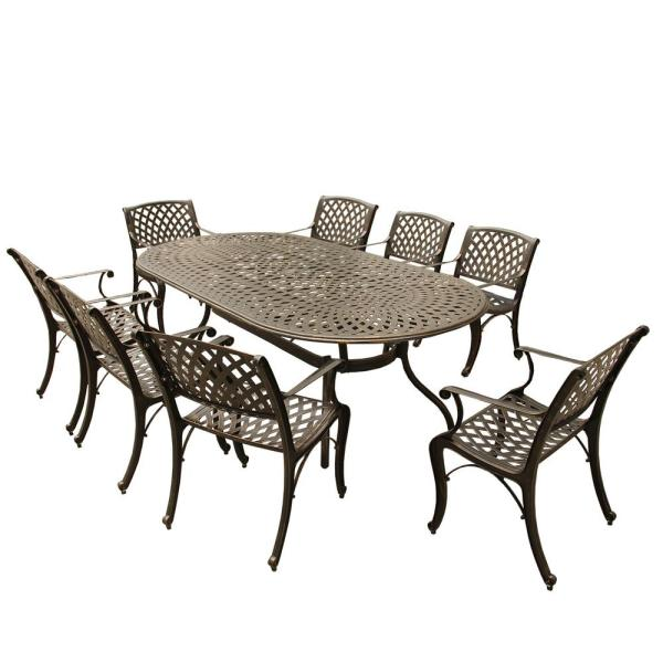 Mesh Lattice 9 Piece Bronze Aluminum