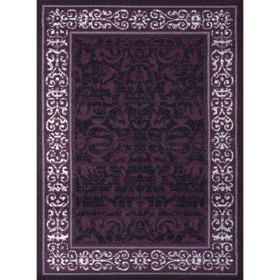 Dallas Baroness Plum 5 ft. x 7 ft. Indoor Area Rug