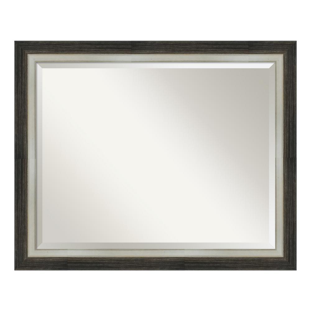 Amanti Art Brushed Metallic Wood Brown Bathroom Vanity Mirror DSW4093074