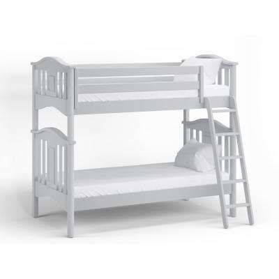 Lyndon Dove Gray Twin Bunk Bed