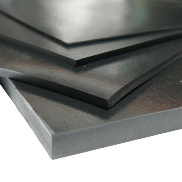 60A 3 Pack Commercial Grade 1//4 Thick x 6 Width x 6 Length Rubber Sheet Rubber-Cal Neoprene