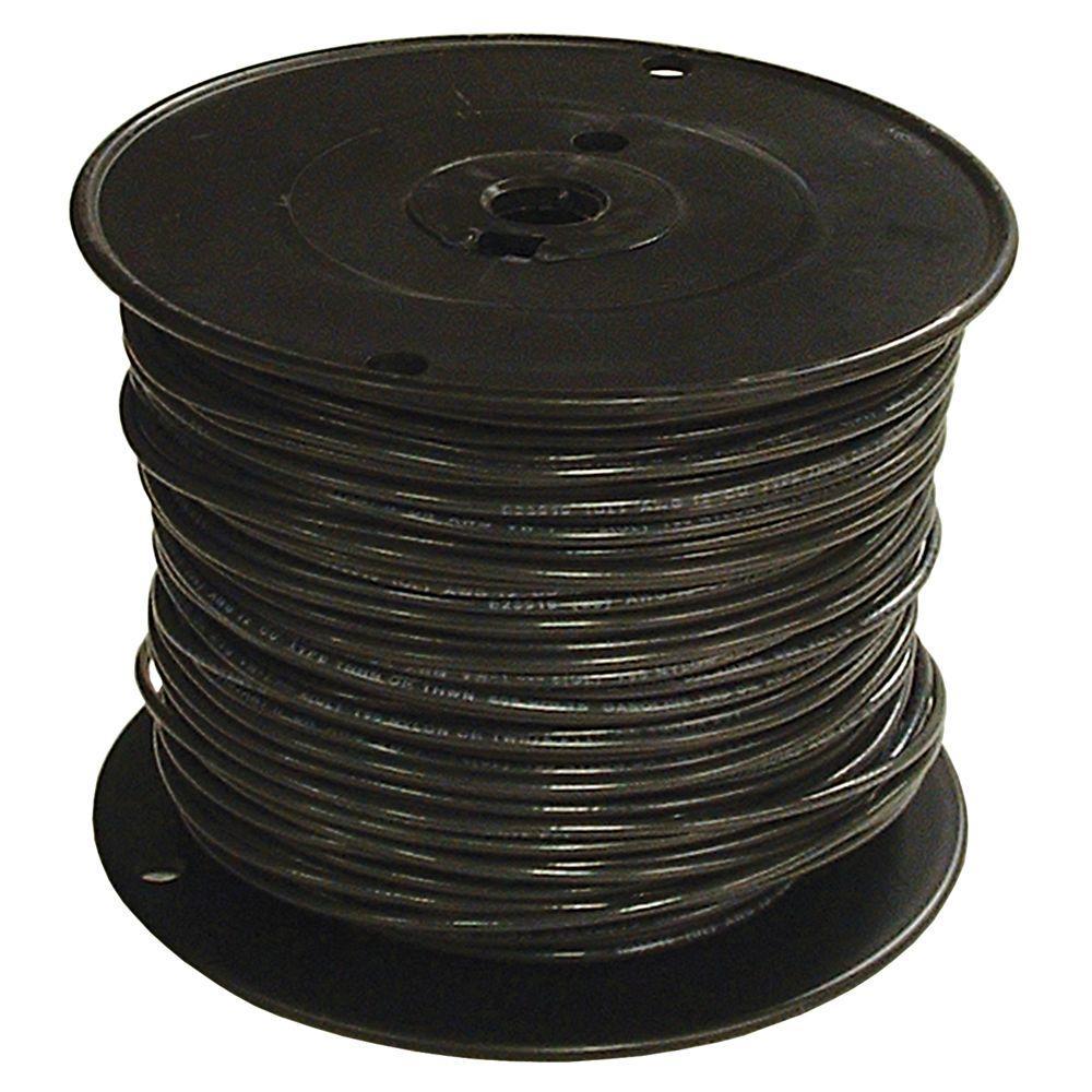 500 ft. 1 Black Stranded CU SIMpull THHN Wire