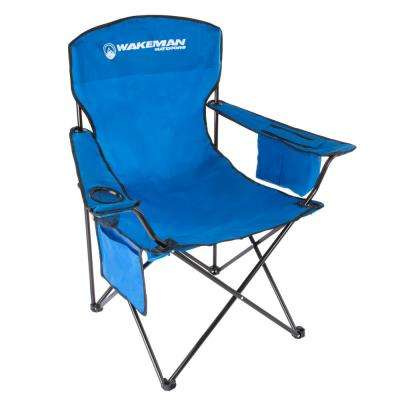 Blue Oversized Heavy-Duty Camping Chair
