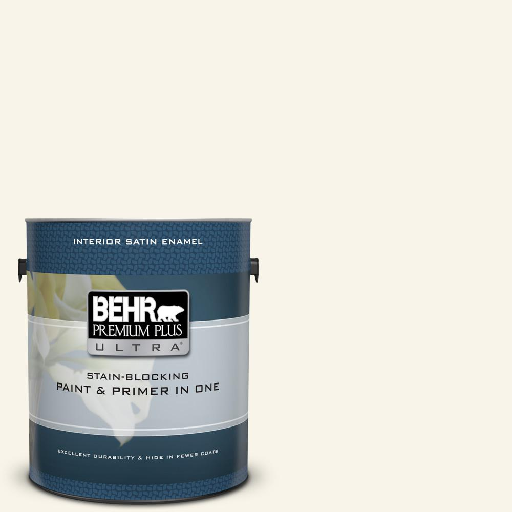BEHR Premium Plus Ultra 1 gal. #M280-1 Twinkling Lights Satin Enamel Interior Paint and Primer in One