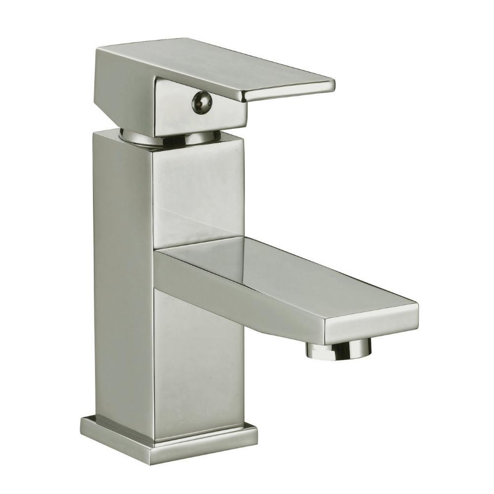 karsen single hole bathroom faucet in satin nickel