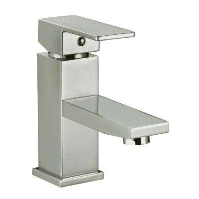 Karsen Single Hole Single-Handle Bathroom Faucet in Satin Nickel