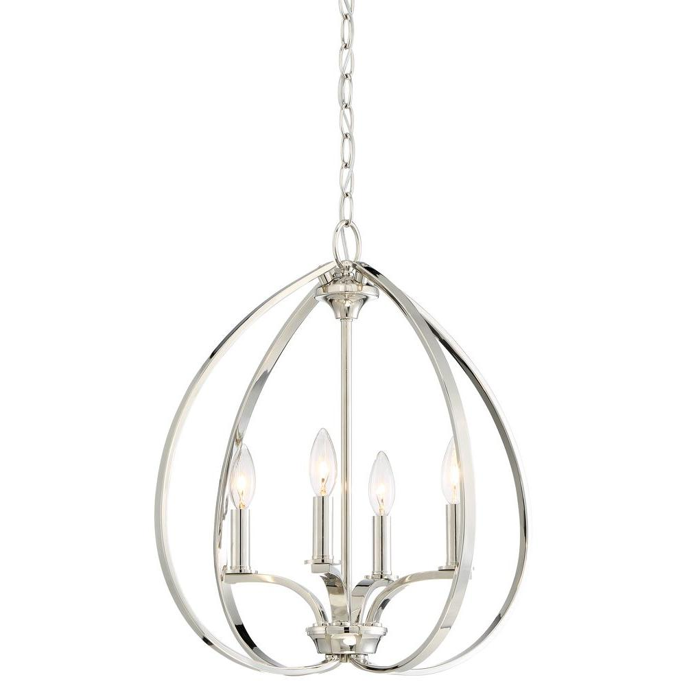 Minka lavery tilbury 4 light polished nickel pendant 4984 613 minka lavery tilbury 4 light polished nickel pendant 4984 613 the home depot aloadofball Gallery