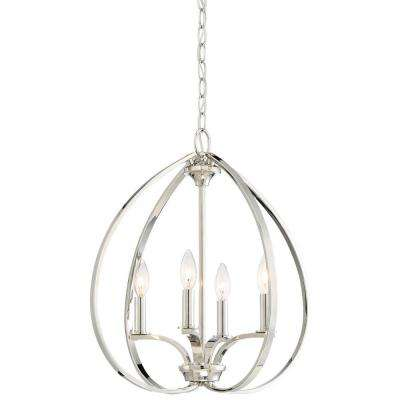 Tilbury 4-Light Polished Nickel Pendant