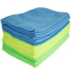 Microfiber Cleaning Cloths, Multi-Colored (24-Pack)