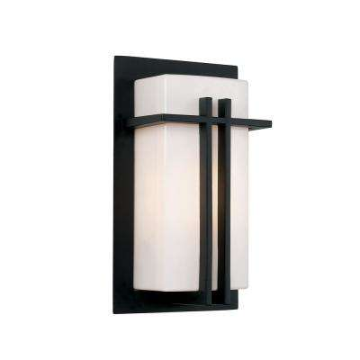 Doheny 1-Light Black Outdoor Wall Lantern