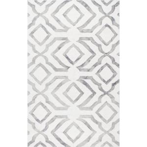 Brienne Geometric Gray 6 ft. x 9 ft.  Area Rug