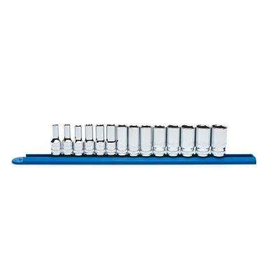 3/8 in. 6 Point Mid-Length Socket Set (14-Piece)
