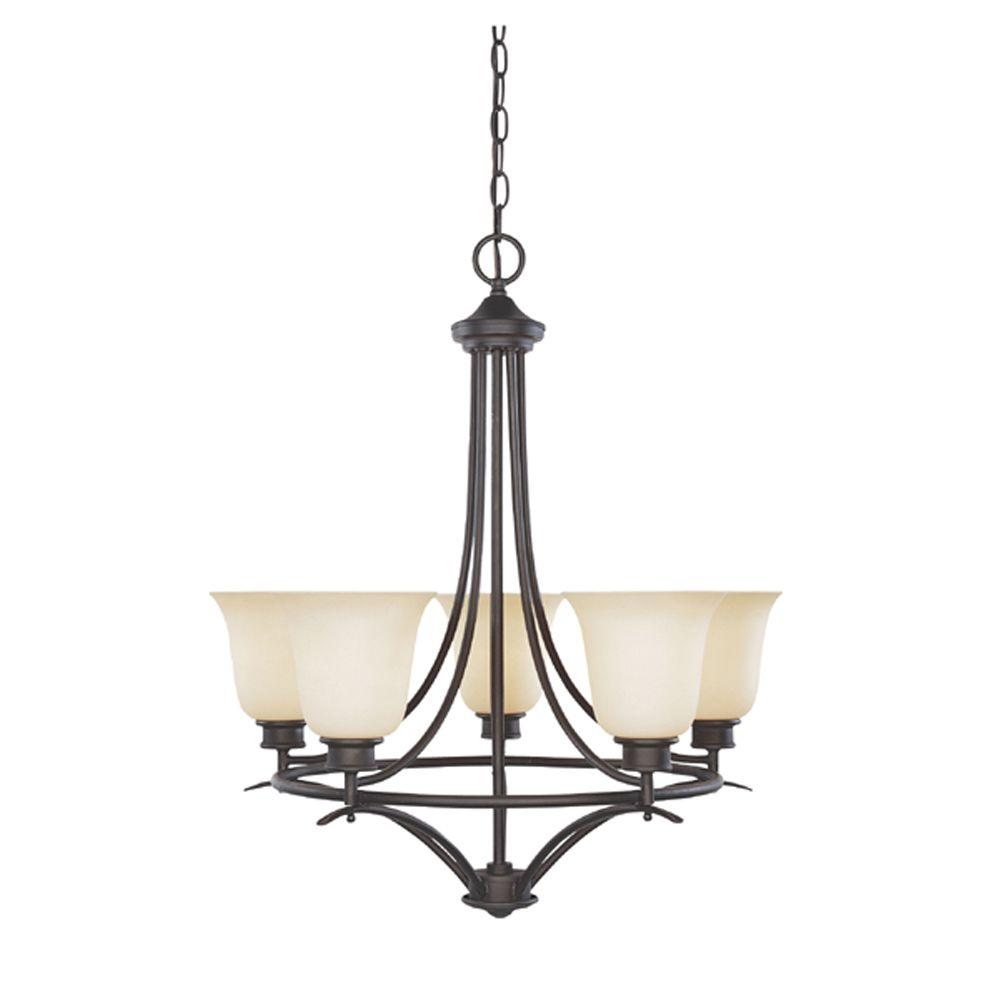 Designers Fountain Montreal 5-Light Oil Rubbed Bronze Hanging Chandelier
