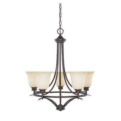 Montreal 5-Light Oil Rubbed Bronze Hanging Chandelier