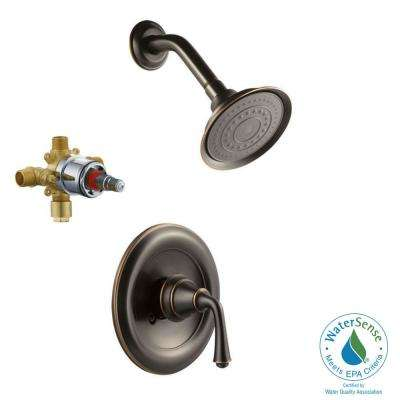Eden Single Handle 1 Spray Shower Faucet In Oil Rubbed Bronze Valve Included