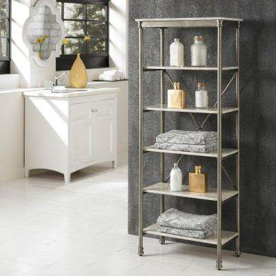 The Orleans 14 in. D x 24 in.W x 60 in. H 6-Tier Shelf