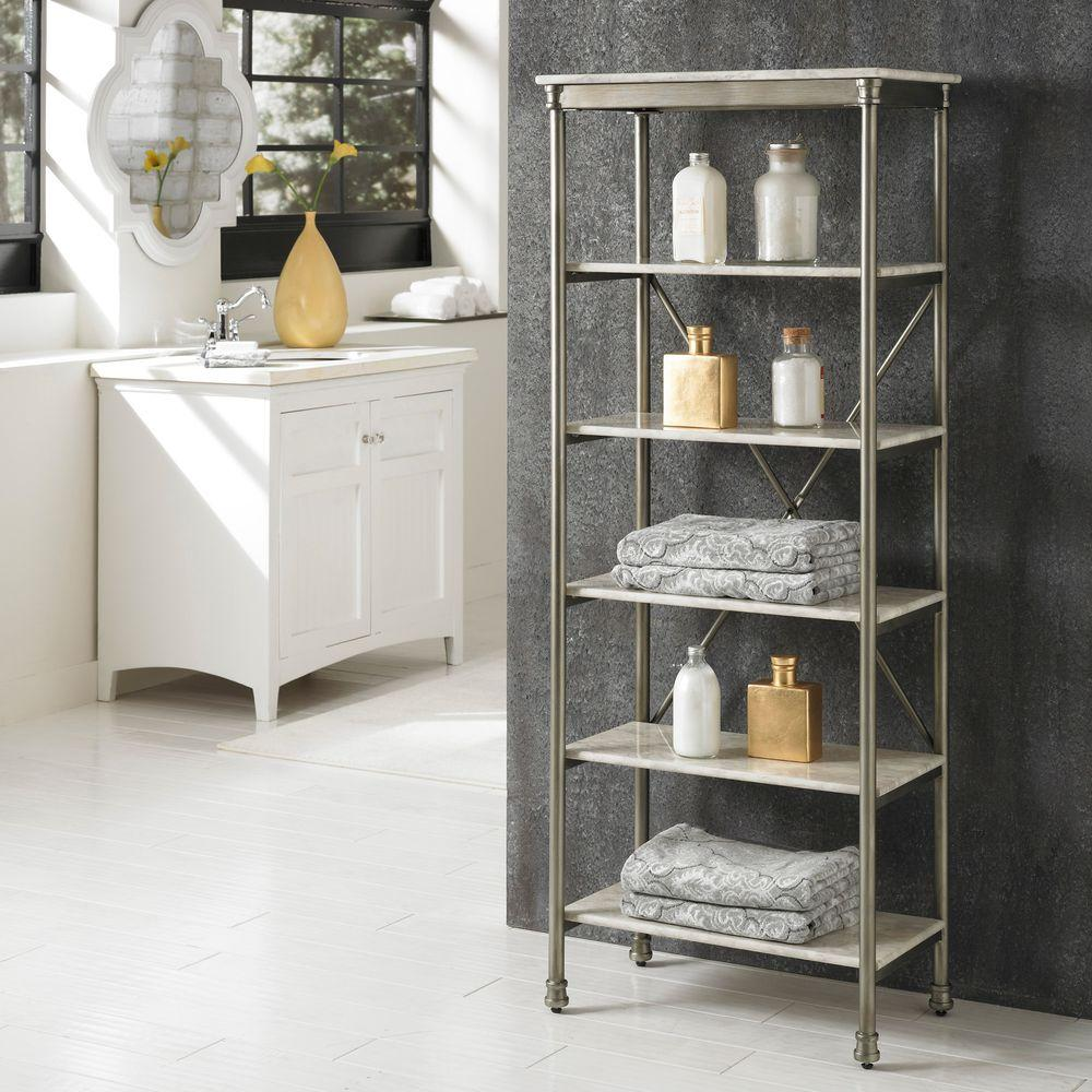 Home Styles The Orleans 14 in. D x 24 in.W x 60 in. H 6-Tier Shelf