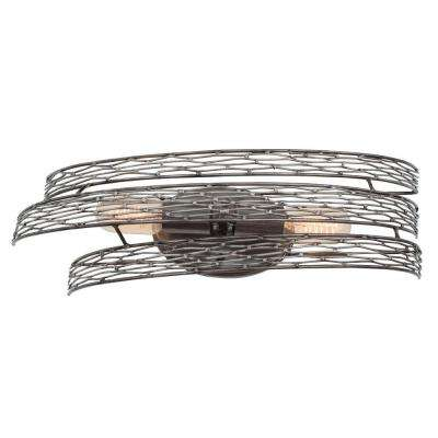 Flow 2-Light Steel Bath Vanity Light