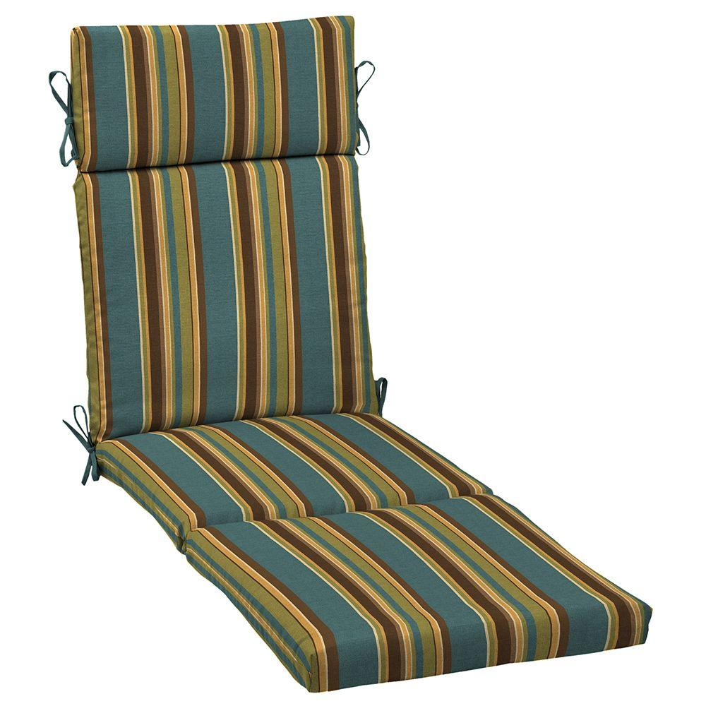 Arden Lakeside Stripe Outdoor Chaise Lounge Cushion