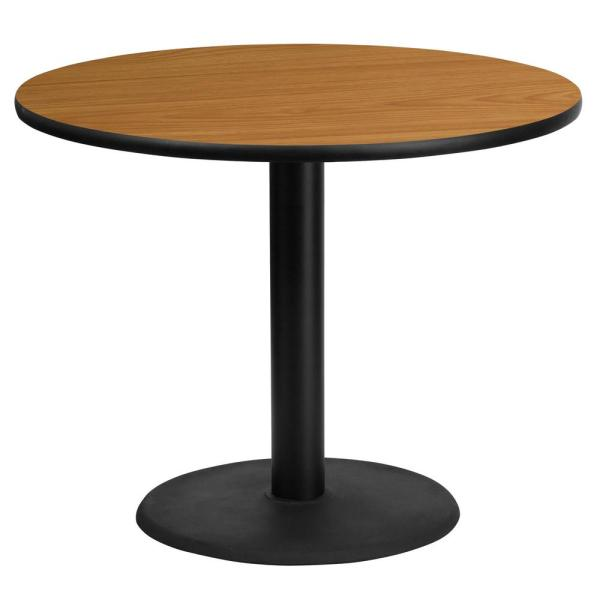 Flash Furniture Round Table Top 36//Natural//Walnut