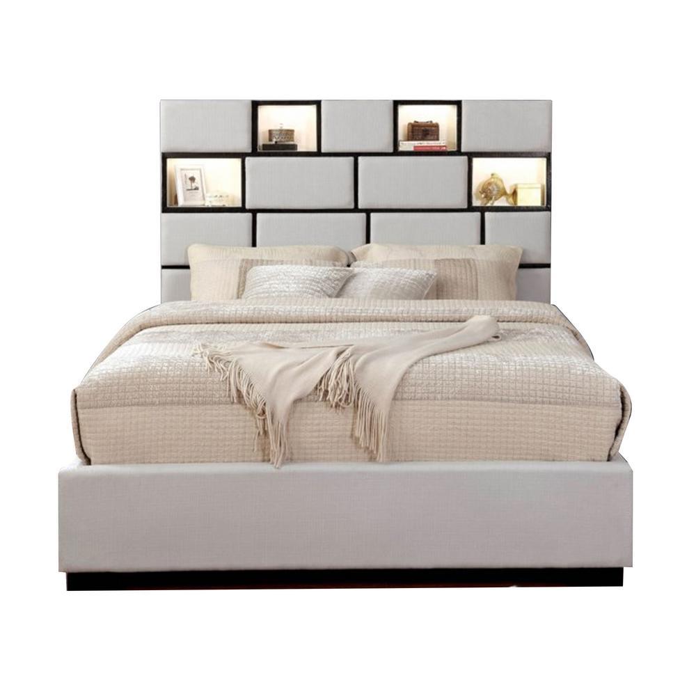 Gemma Queen Bed in Beige