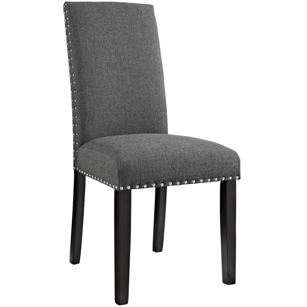 MODWAY Parcel Gray Dining Fabric Side Chair