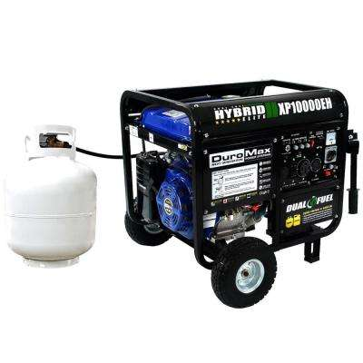 10,000/8,000-Watt Dual Fuel Powered Electric Start Portable Generator