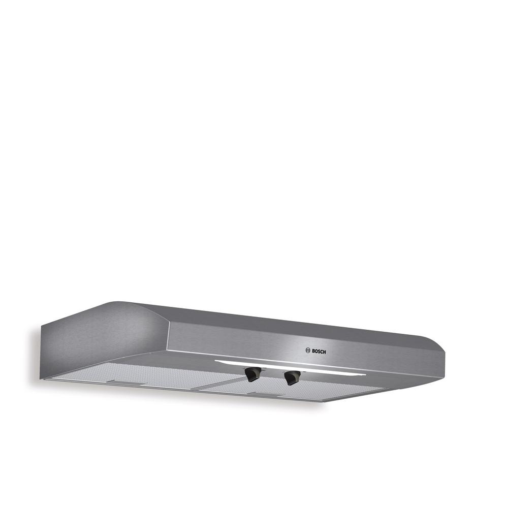 Bosch 300 Series 30 in. Undercabinet Range Hood with Lights in Stainless Steel