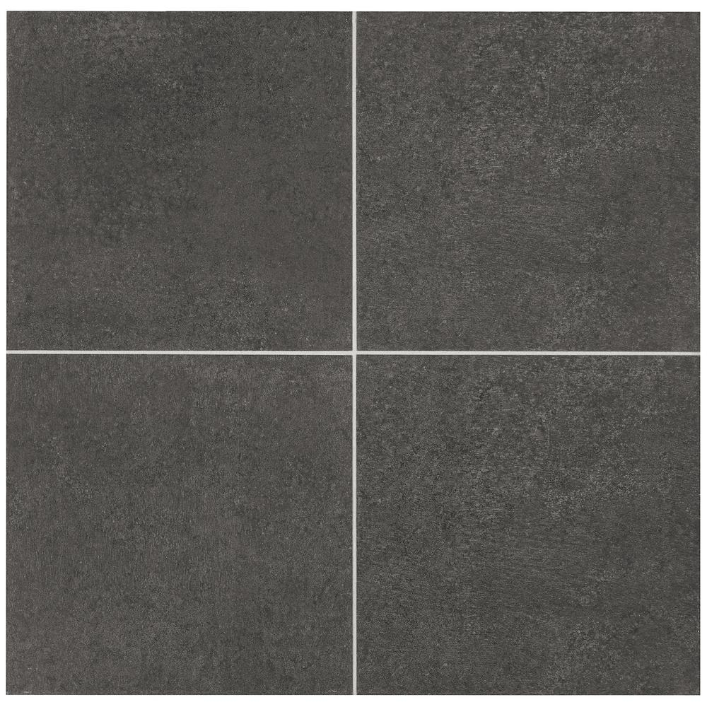 Marazzi Eclectic Vintage Charcoal Concrete 12 In X 12 In