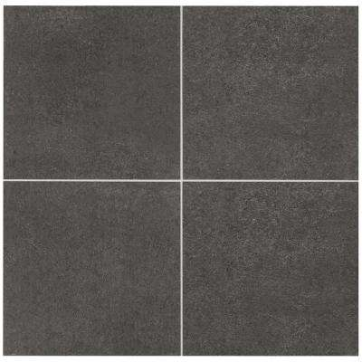 Eclectic Vintage Charcoal Concrete 12 in. x 12 in. Porcelain Floor and Wall Tile (14.55 sq. ft. / case)