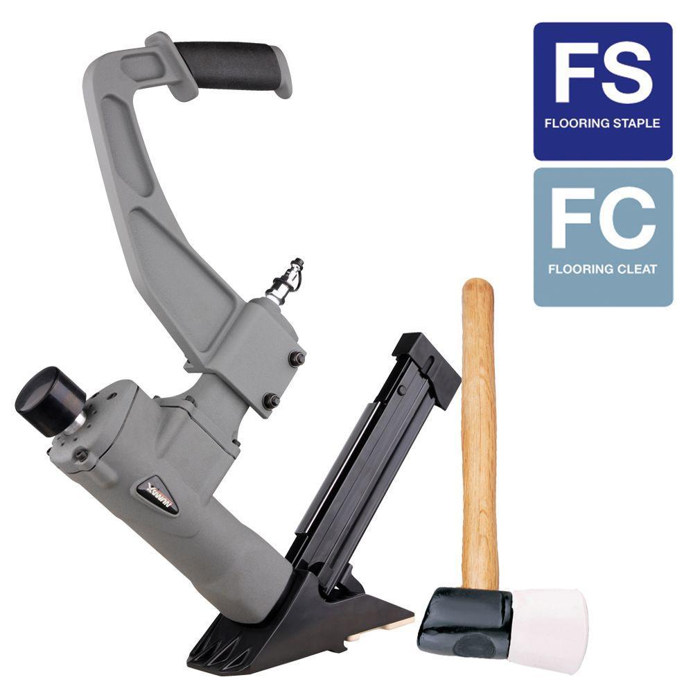 NuMax Pneumatic 3-in-1 Flooring 16-Gauge Nailer and 15.5-Gauge Stapler