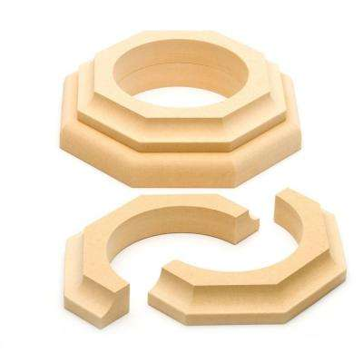 4 in. Dia Paintable MDF Cap and Base Set