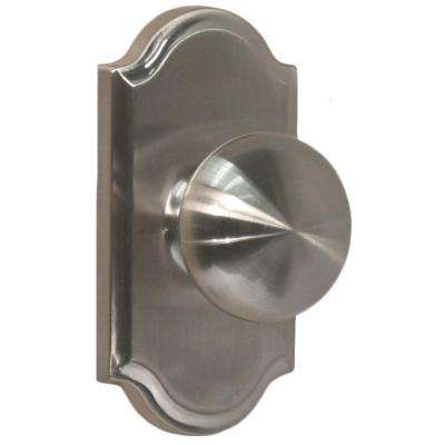 Elegance Satin Nickel Premiere Privacy Bed/Bath Impresa Door Knob